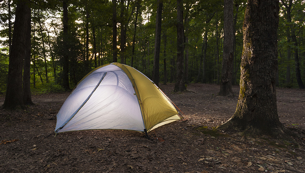 Camping on Uwharrie National Forest, Guy Sagi