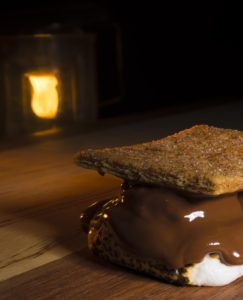 The Year Santa Came Back, smore, s'more, Guy Sagi, camping treat, marshmallow camping dessert, camping photography